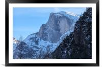 Half Dome Winter, Framed Mounted Print
