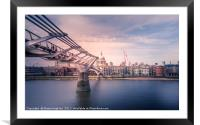 London - Path to St.Pauls, Framed Mounted Print
