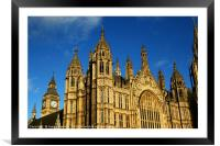 Towers of Palace of Westminster London, Framed Mounted Print