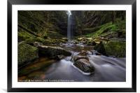 Henrhyd Waterfall, Framed Mounted Print