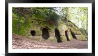 Dale Abbey Cave, Framed Mounted Print