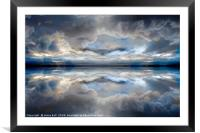Cloud mirror, Framed Mounted Print