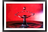 water drop, Framed Mounted Print