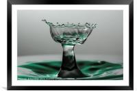 water drop like a cut glass bowl, Framed Mounted Print