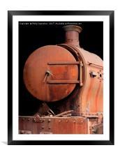 old rusting locomotive , Framed Mounted Print
