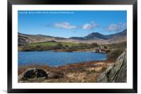 Walking in North Wales, Framed Mounted Print