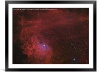 Flamin Star nebula (IC 405) in the constellation A, Framed Mounted Print