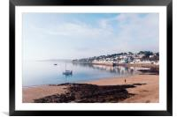 Calm water at St. Mawes, Framed Mounted Print
