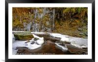 Snow and Ice, Framed Mounted Print