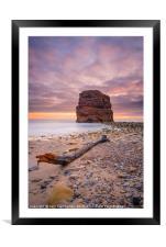 Marsden Rock Sunrise, Framed Mounted Print