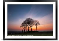 Seven Sisters sunset, Framed Mounted Print