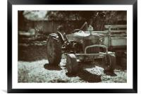 Tractor - Wet Plate Vintage Collection, Framed Mounted Print