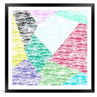 Abstract background, Framed Mounted Print