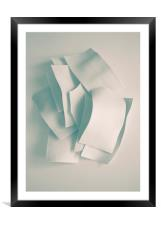 Abstract forms, Framed Mounted Print