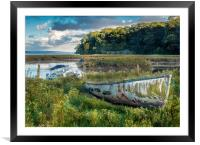 A Colourful Old Boat - Laugharne Estuary. , Framed Mounted Print