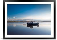 Still waters at Aberdovey., Framed Mounted Print
