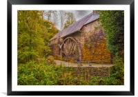 The Water Wheel at Dyfi Furnace., Framed Mounted Print