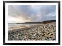 Newgale Beach in Winter., Framed Mounted Print