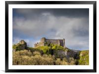 Carreg Cennen Castle, Llandeilo, Carmarthenshire, , Framed Mounted Print