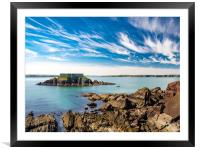 Thorn Island, Angle Pembrokeshire., Framed Mounted Print