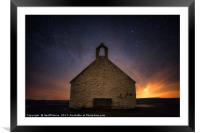 Hunting Welsh Dragons In Anglesey at  St. Cwyfan's, Framed Mounted Print