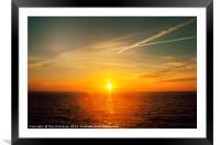 Bendricks Beach Sunrise, Framed Mounted Print