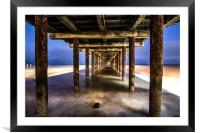 Under the Pier , Framed Mounted Print