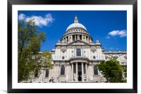 St. Pauls Cathedral in London, Framed Mounted Print