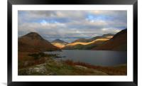 Last light Wastwater, Framed Mounted Print