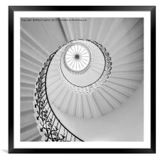 The Tulip Spiral Stairs - B&W, Framed Mounted Print