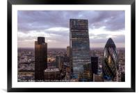 London Skyscrapers, Framed Mounted Print
