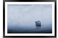 Misty Mooring Blues., Framed Mounted Print
