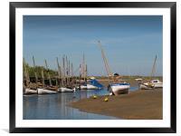 Sail Boats  Blakeney  North Norfolk , Framed Mounted Print