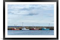 Fox Point Wharf, Framed Mounted Print