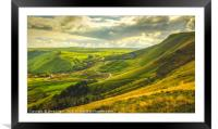 The Hope Valley , Framed Mounted Print