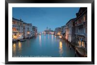 Twilight View from the Accademia Bridge, Framed Mounted Print