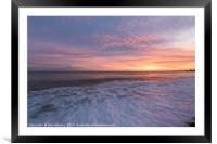 Hastings Sunset, Framed Mounted Print