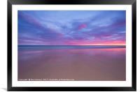 Pink Sunset, Framed Mounted Print
