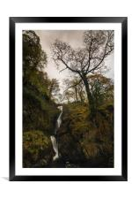 Aira Force Falls Lake District, Framed Mounted Print