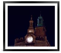 Two Clocks, Framed Mounted Print