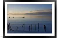 Loch Ness Kayak, Framed Mounted Print