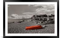 Budleigh beach, Framed Mounted Print