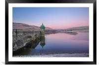Elan Valley Craig Goch in Pink,, Framed Mounted Print