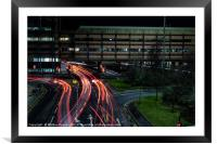 Light Trails in Charing Cross, Glasgow, Framed Mounted Print