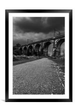 The Sankey Viaduct in Newton Le Willows,Merseyside, Framed Mounted Print