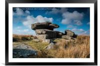 Dartmoor  Tor, Princetown Dartmoor, Framed Mounted Print