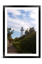 Cape Byron Lighthouse , Framed Mounted Print