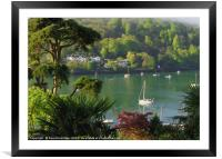 Dart Estuary at Dartmouth from Kingwear, Framed Mounted Print