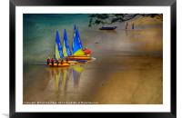Sailing Dinghies at East Portlemouth, Framed Mounted Print