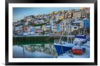 Brixham in Winter, Framed Mounted Print